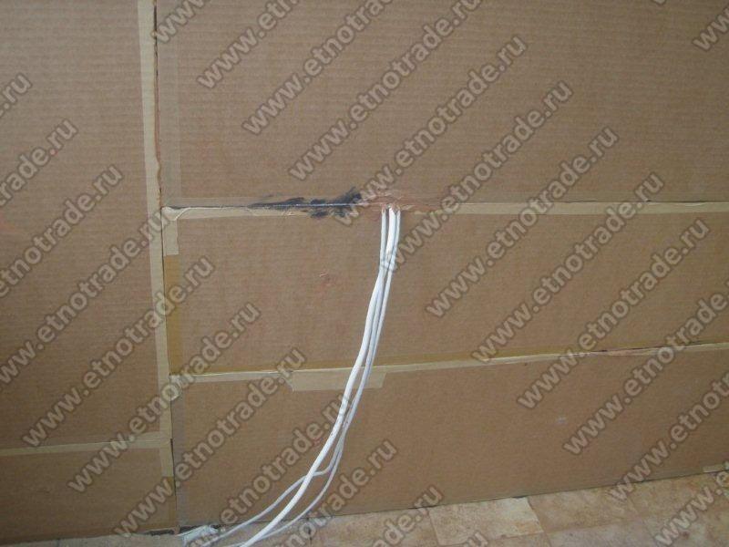 Выведение электропроводки через панели Фонстар