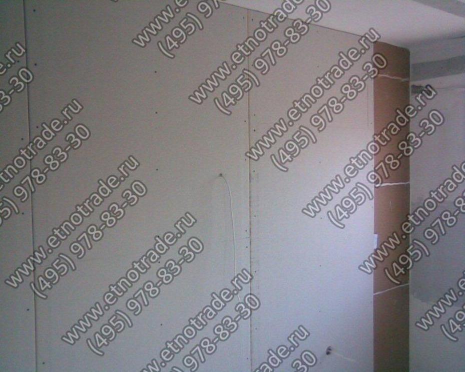 Поверх панелей Фонстар монтаруем финишный слой ГКЛ