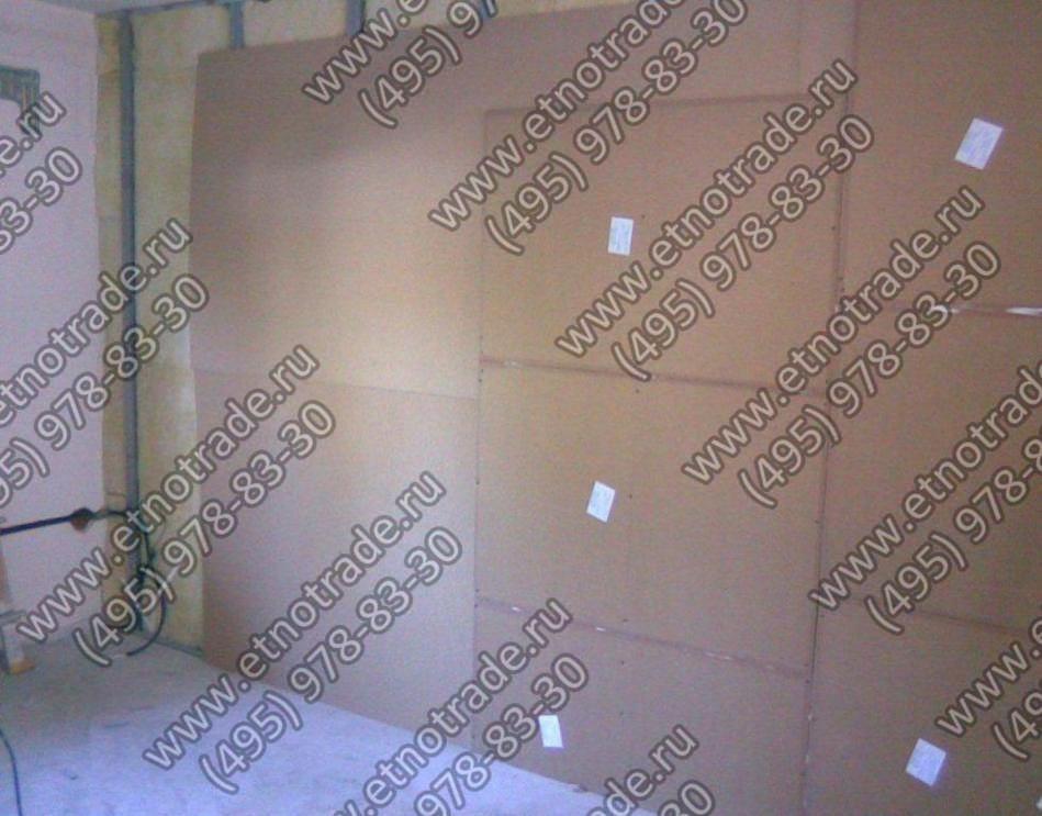Первый слой гипсокартона с Тексаундом зашиваем панелями Фонстар