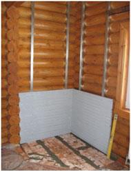 Устройство защитной стенки из несгораемых плит суперизол (skamotec 255)