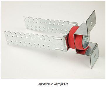 стеновое звукоизоляционное крепление Vibrofix CD